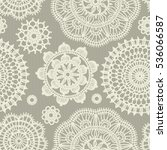seamless pattern in vintage... | Shutterstock .eps vector #536066587
