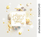 happy new year greeting card... | Shutterstock .eps vector #536069143