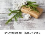 wrapping eco christmas packages ...   Shutterstock . vector #536071453