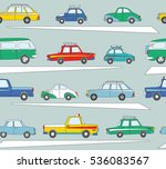 seamless pattern with cute... | Shutterstock .eps vector #536083567