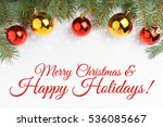 background made of christmas... | Shutterstock . vector #536085667