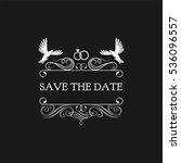 wedding invitation. save the... | Shutterstock . vector #536096557