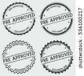 pre approved insignia stamp... | Shutterstock .eps vector #536100217