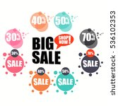 set of flat design sale... | Shutterstock .eps vector #536102353