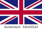flag of united kingdom vector... | Shutterstock .eps vector #536103133