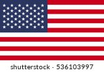 flag of united states vector... | Shutterstock .eps vector #536103997