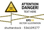 caution   danger  warning sign... | Shutterstock .eps vector #536109277