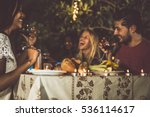 group of friends making... | Shutterstock . vector #536114617