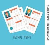 curriculum vitae document icon | Shutterstock .eps vector #536115043