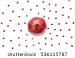 ripe pomegranate in the center... | Shutterstock . vector #536115787