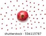 ripe pomegranate in the center... | Shutterstock . vector #536115787