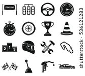 racing speed icons set. simple... | Shutterstock .eps vector #536121283