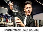 flair bartender in action   Shutterstock . vector #536123983