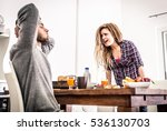 couple fight hard in the morning | Shutterstock . vector #536130703