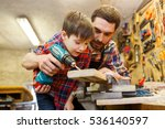 family  carpentry  woodwork and ... | Shutterstock . vector #536140597