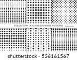 collection of halftone seamless ... | Shutterstock .eps vector #536161567