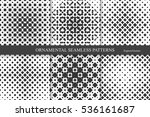 collection of halftone seamless ... | Shutterstock .eps vector #536161687