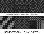 collection of seamless dark... | Shutterstock .eps vector #536161993