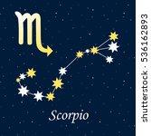 constellation scorpio zodiac...   Shutterstock . vector #536162893