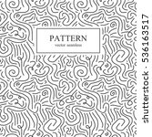curve seamless pattern in... | Shutterstock .eps vector #536163517