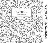 seamless geometric patterns in... | Shutterstock .eps vector #536163523