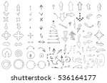 hand drawn arrows collection... | Shutterstock .eps vector #536164177