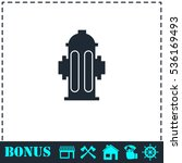 Fire Hydrant Icon Flat. Simple...