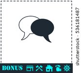 chat icon flat. simple vector...