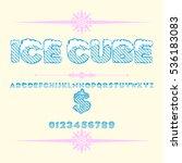 script font typeface ice cube...   Shutterstock .eps vector #536183083