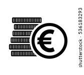 euro money coins sign. eur... | Shutterstock .eps vector #536183293