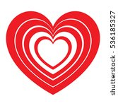 red hearts in each other and... | Shutterstock .eps vector #536185327