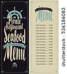 vector seafood menu for pirate... | Shutterstock .eps vector #536186083