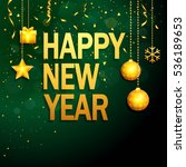 happy new year background with... | Shutterstock .eps vector #536189653