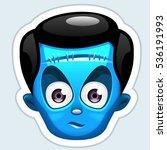 monster sticker. vector... | Shutterstock .eps vector #536191993