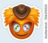 monster sticker. cartoon vector ... | Shutterstock .eps vector #536192023