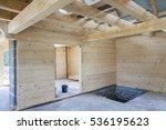 Interior Of Unfinished Wooden...