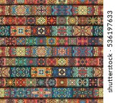 colorful vintage seamless...   Shutterstock .eps vector #536197633