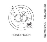 honeymoon banner with wedding...   Shutterstock .eps vector #536203333