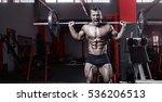 muscular bodybuilder guy doing...   Shutterstock . vector #536206513
