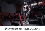 muscular bodybuilder guy doing... | Shutterstock . vector #536206543