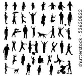 people silhouettes | Shutterstock .eps vector #53620822
