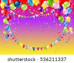 holiday frame with balloons | Shutterstock .eps vector #536211337