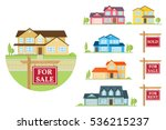 house for sale creation set.... | Shutterstock .eps vector #536215237