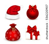 set of realistic christmas... | Shutterstock .eps vector #536220907