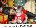 mother with the little son in... | Shutterstock . vector #536222047