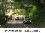 cars traveling in the tunnel of ... | Shutterstock . vector #536225857
