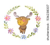 Cute Moose Animal For...