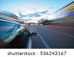 the car moves at the night. | Shutterstock . vector #536243167
