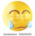 3d illustration. sad emoji... | Shutterstock . vector #536243233