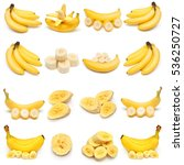 collection of bananas isolated...   Shutterstock . vector #536250727
